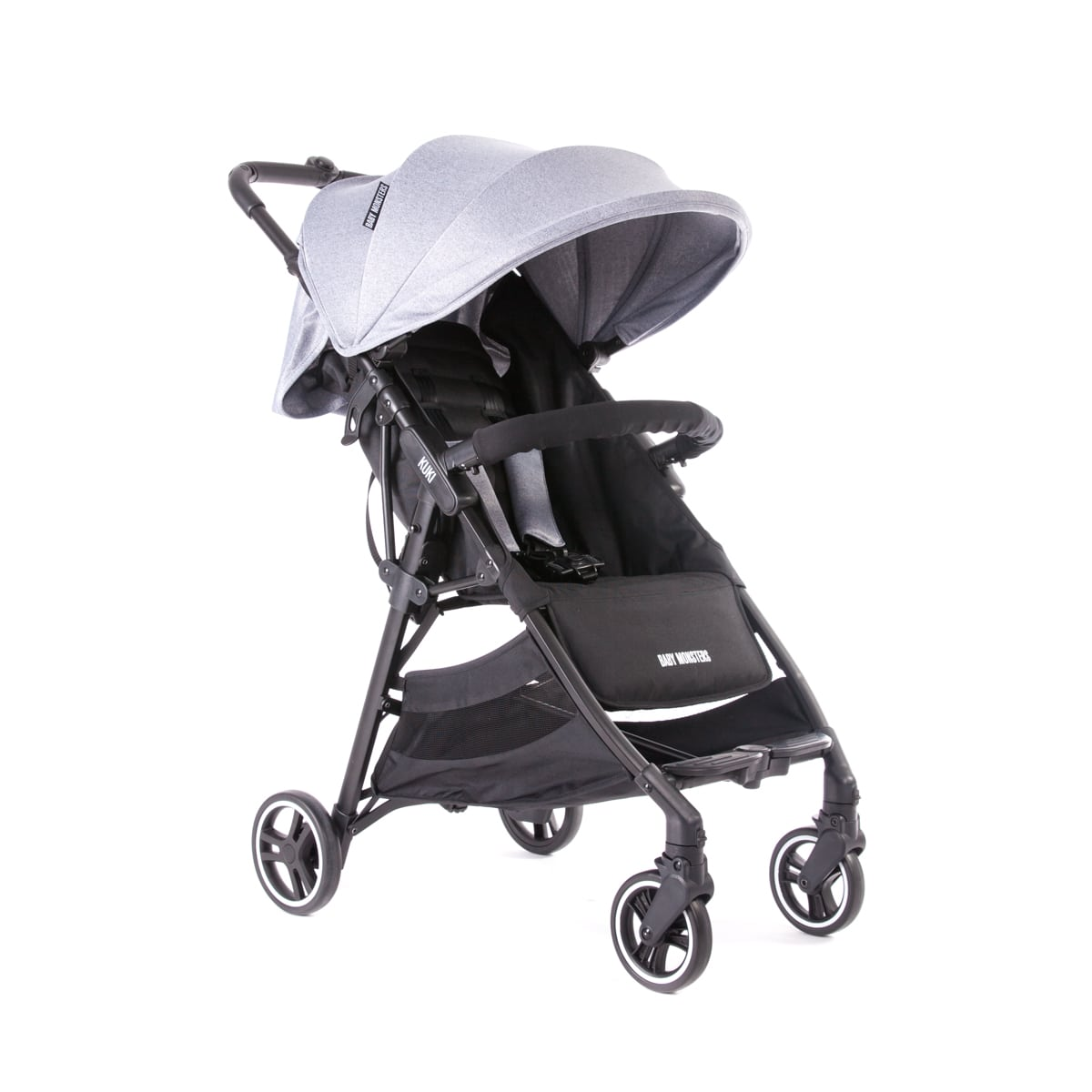 Kuki Stroller By Baby Monsters col Grey