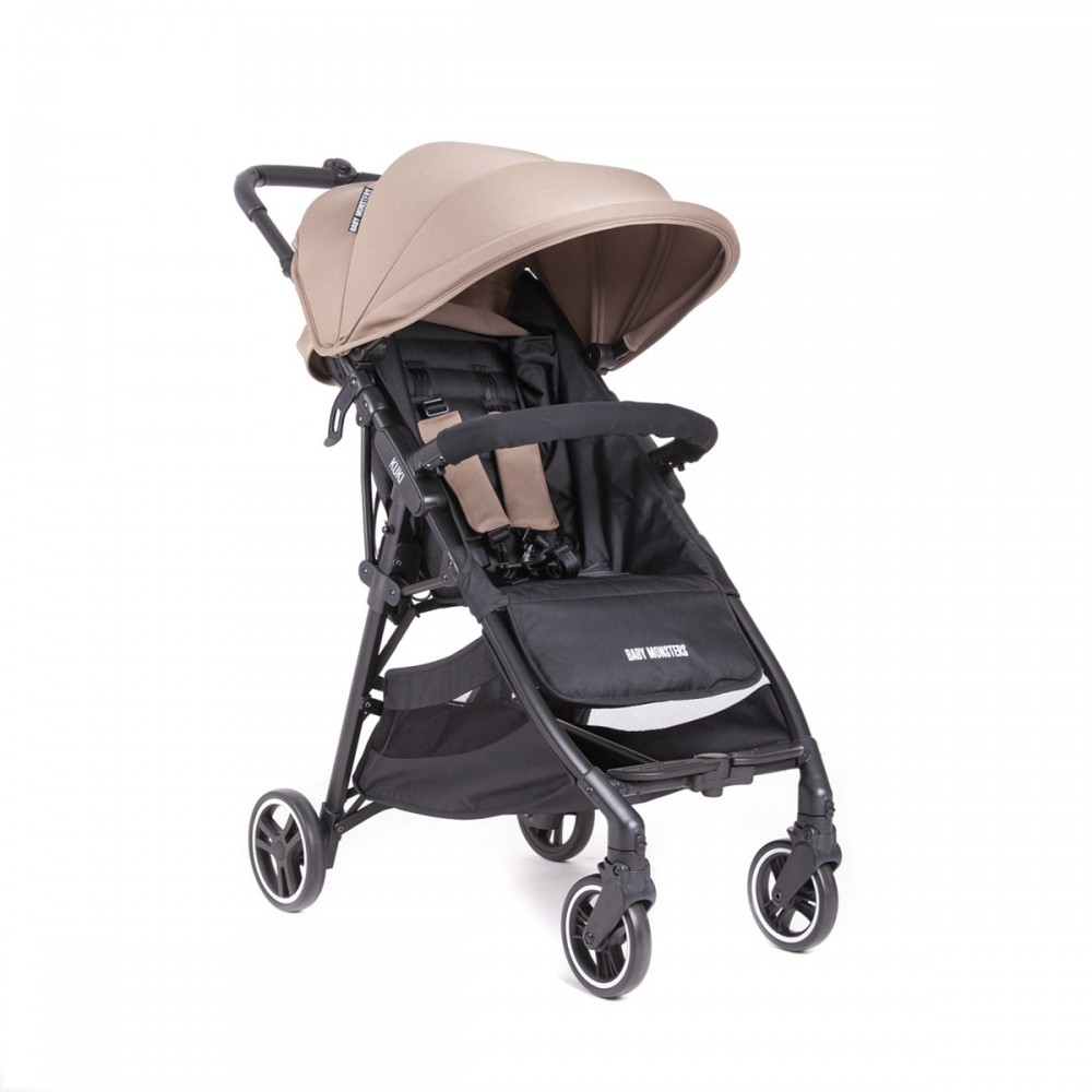 Kuki Stroller By Baby Monsters col Taupe