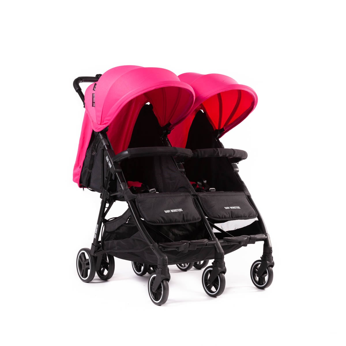Kuki Twin Stroller by Baby Monsters col Fuschia